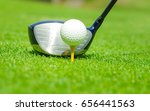 golf club driver aim golf ball... | Shutterstock . vector #656441563