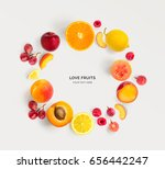 creative layout made of various ... | Shutterstock . vector #656442247