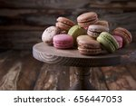 Colorful Assorted Macaroons On...