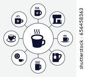 caffeine icons set. set of 9... | Shutterstock .eps vector #656458363