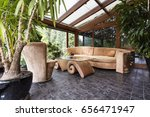 stylish orangery with potted... | Shutterstock . vector #656471947