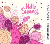 seamless nature pattern with... | Shutterstock .eps vector #656477977