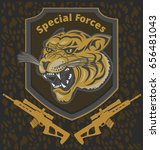 tiger special forces | Shutterstock .eps vector #656481043
