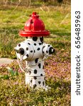 white fire hydrant with black... | Shutterstock . vector #656485963