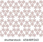 seamless geometric line pattern ... | Shutterstock .eps vector #656489263