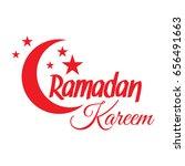 ramadan kareem greeting card.... | Shutterstock .eps vector #656491663