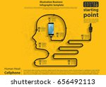 vector human head   cellphone ... | Shutterstock .eps vector #656492113
