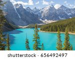 beautiful view on mountains in... | Shutterstock . vector #656492497