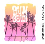 palm beach california t shirt... | Shutterstock .eps vector #656494657
