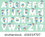 set of various poses of...   Shutterstock .eps vector #656519707
