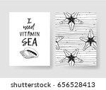 set of templates summer cards.... | Shutterstock .eps vector #656528413