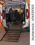 a wheelchair access ramp at the ... | Shutterstock . vector #656539303