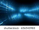 abstract light emitting circles ... | Shutterstock . vector #656543983