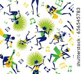 abstract styled brazilian... | Shutterstock .eps vector #656545783