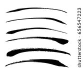 vector set of grunge brush... | Shutterstock .eps vector #656547223