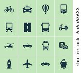 transportation icons set.... | Shutterstock .eps vector #656563633
