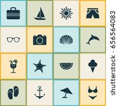 season icons set. collection of ... | Shutterstock .eps vector #656564083