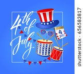 4th july   independence day of... | Shutterstock .eps vector #656583817