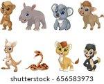 vector illustration set of... | Shutterstock .eps vector #656583973