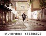 businessman running. man... | Shutterstock . vector #656586823