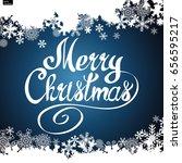 merry christmas vector... | Shutterstock .eps vector #656595217