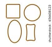 rope frames | Shutterstock .eps vector #656608123