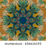 seamless lime kaleidoscope... | Shutterstock . vector #656616193