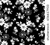 tiny flowers seamless pattern ... | Shutterstock .eps vector #656617933