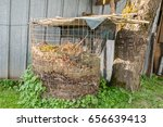 compost heap with humus in a... | Shutterstock . vector #656639413