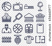 view icons set. set of 16 view... | Shutterstock .eps vector #656660977