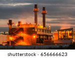 petrochemical oil refinery... | Shutterstock . vector #656666623