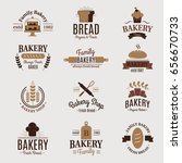 bakery badge icon fashion... | Shutterstock .eps vector #656670733