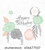 happy birthday floral japan... | Shutterstock .eps vector #656677537