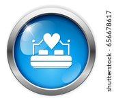 matrimonial bed icon | Shutterstock .eps vector #656678617