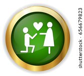 mariage proposal icon | Shutterstock .eps vector #656679823