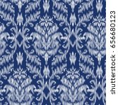 ikat ogee and damascus ornament ... | Shutterstock .eps vector #656680123