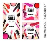 lip makeup accessoires 2... | Shutterstock .eps vector #656680147
