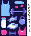 illustration of his and hers... | Shutterstock .eps vector #656680813