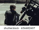 back view of stylish young man... | Shutterstock . vector #656682607
