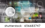 cyber security and information... | Shutterstock .eps vector #656683747