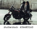 sensual stylish young couple... | Shutterstock . vector #656685163