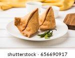 popular indian snack called veg ... | Shutterstock . vector #656690917