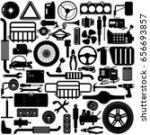 vector car parts pictogram | Shutterstock .eps vector #656693857