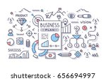 business plan document with... | Shutterstock .eps vector #656694997