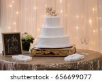 wedding cake | Shutterstock . vector #656699077