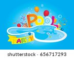 vector of pool party invitation ... | Shutterstock .eps vector #656717293