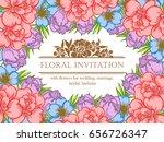 romantic invitation. wedding ...   Shutterstock . vector #656726347