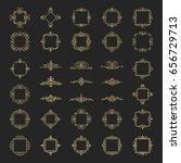 huge rosette wicker border... | Shutterstock .eps vector #656729713