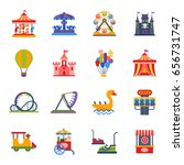 carousels amusement attraction... | Shutterstock .eps vector #656731747