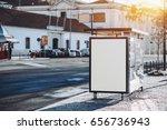 mock up of empty billboard...   Shutterstock . vector #656736943